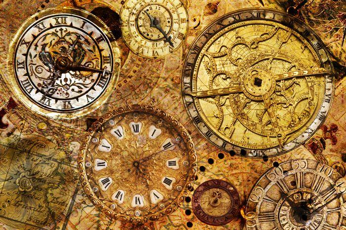 друзья девочки фотообои с изображением часов красивое